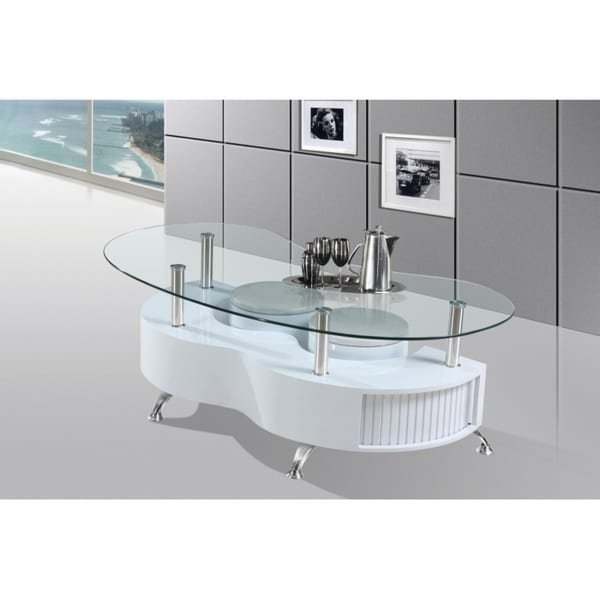 Best Quality Furniture Glass Top Coffee Table with Nesting Stools