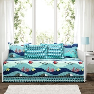Lush Décor Sealife 6 Piece Daybed Cover Set - Blue