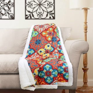Lush Decor Belize Sherpa Throw