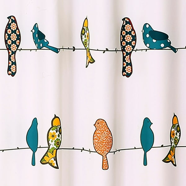 lush dcor rowley birds shower curtain free shipping on orders over 45