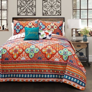 Lush Décor Belize 5 Piece Quilt Set