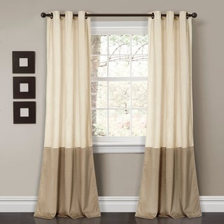 Lush Decor Prima Velvet Color-block Room-darkening Window Curtain Panels