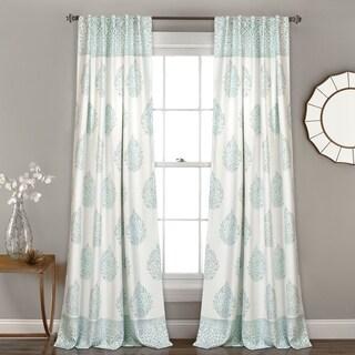 Lush Decor Teardrop Leaf Room-darkening Window Curtain Panel Set
