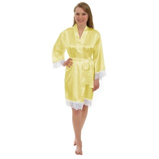 Leisureland Women's Lace Robe, Luxury Lace Trim