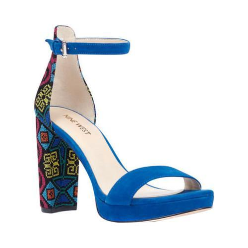 b0acf84e1a2 Shop Women s Nine West Dempsey Dress Sandal Blue Blue Multi Fabric - Free  Shipping Today - Overstock - 15006747