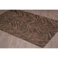 Hand-stitched Chocolate Cow Hide Leather Rug - 5'x 8'