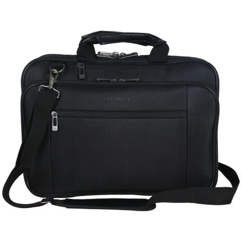 Heritage Travelware Polyester Dual Compartment 15.6-inch Laptop and Tablet Case W/ Adjustable Strap
