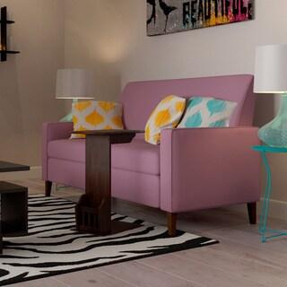 Porch & Den Highland Vallejo Amethyst Purple Linen Sofa