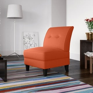 Highland Shoshone Orange Linen Armless Chair