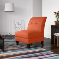 Porch & Den Highland Shoshone Orange Linen Armless Chair