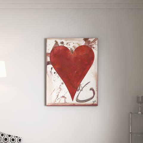 Porch & Den Zane Heartwork Cameryn Canvas Art