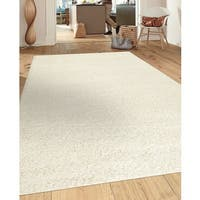 Porch & Den Marigny Kerlerec Solid White Indoor Shag Area Rug - 7'10 x 10'