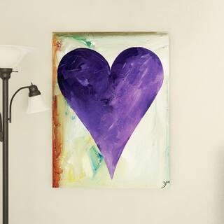 Porch & Den Zane Heartwork 'Evan' Canvas Art
