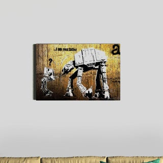 Banksy 'Your Father' Canvas Wall Art