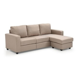 Porch & Den Tremont Rowley Tan Convertible Sectional