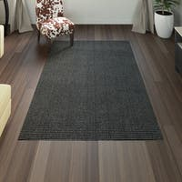 Porch & Den Park Circle Chesterfield Black/ Charcoal Area Rug - 5' x 7'