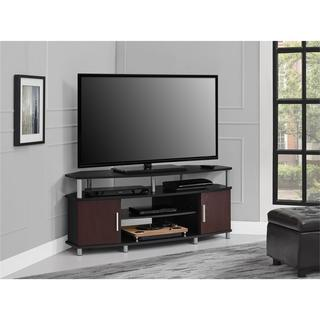 Porch & Den Hoyne 50-inch Black/ Cherry Corner TV Stand