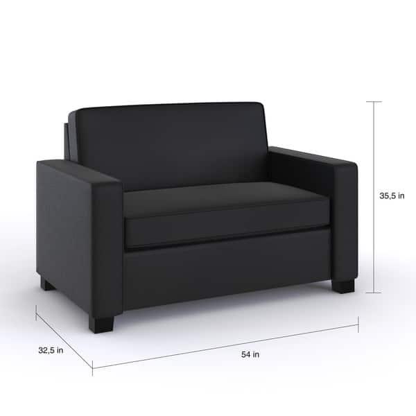 Astonishing Shop Porch Den Broward Twin Size Faux Leather Sleeper Sofa Camellatalisay Diy Chair Ideas Camellatalisaycom