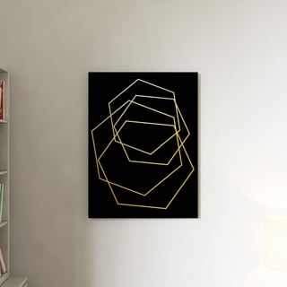 The Curated Nomad Wall Decor 'Gilt Mod III-B' in ArtPlexi