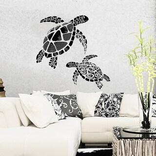 Ocean Turtle Wall Decal 22 x 22 Wall Vinyl