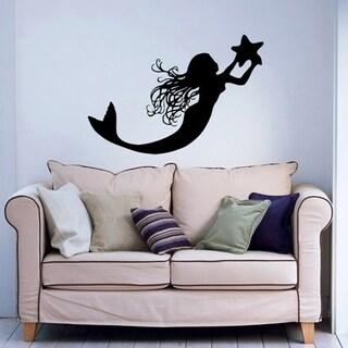 Mermaid Wall Decal 24 x 32 Wall Vinyl