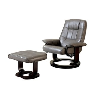 Cheste Multifunctional Swivel Lounger Chair With ottoman, Gray
