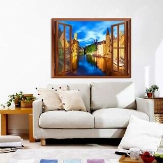 Beautiful Scenery/Landscape Venice,Italy Instant Window Wall Vinyl