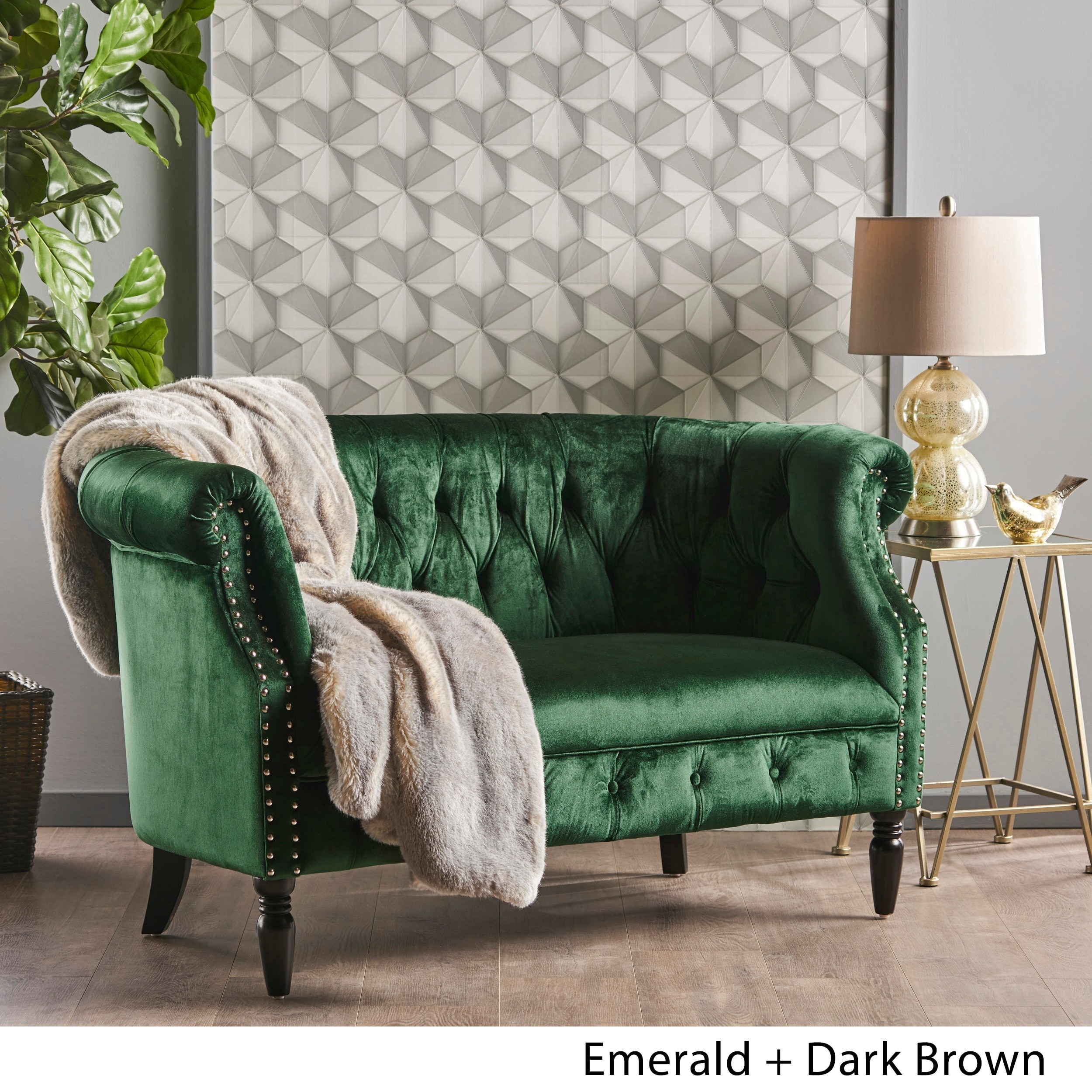 green room furniture. Milani Tufted Scroll Arm Velvet Loveseat By Christopher Knight Home Green Room Furniture