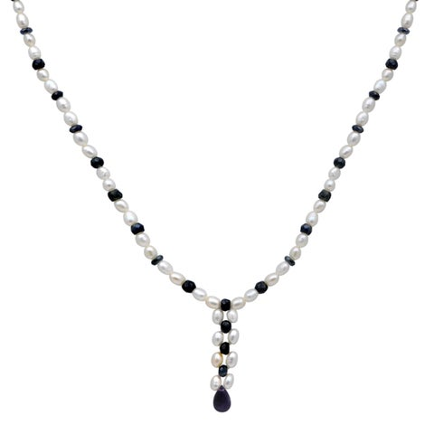 Orchid Jewelry 65.75 Carat Sapphire Amethyst Pearl 14k Yellow Gold Beaded Necklace