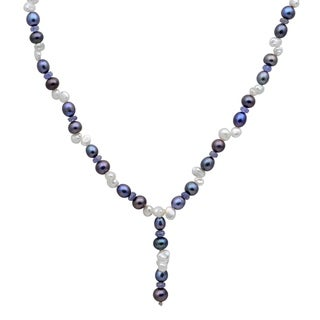 Orchid Jewelry 104 Carat Tanzanite Pearl Grey pearl 14k Yellow Gold Beaded Necklace