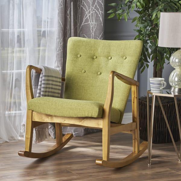 Fine Shop Callum Mid Century Fabric Rocking Chair By Christopher Ibusinesslaw Wood Chair Design Ideas Ibusinesslaworg