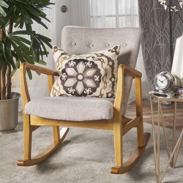 Terrific Shop Callum Mid Century Fabric Rocking Chair By Christopher Ibusinesslaw Wood Chair Design Ideas Ibusinesslaworg