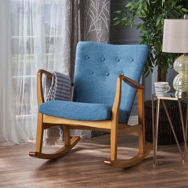 Amazing Shop Callum Mid Century Fabric Rocking Chair By Christopher Ibusinesslaw Wood Chair Design Ideas Ibusinesslaworg
