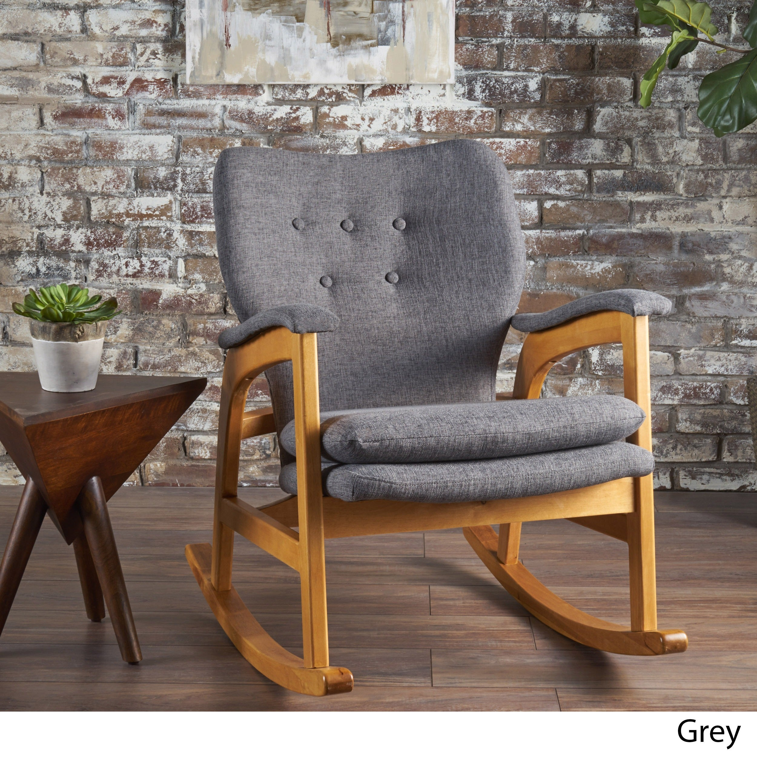 Braant Mid Century Fabric Rocking Chair By Christopher Knight Home On Sale Overstock 17801800