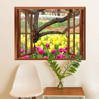 Bed of Tulips Removable Wall Sticker Wall Mural Wall Vinyl