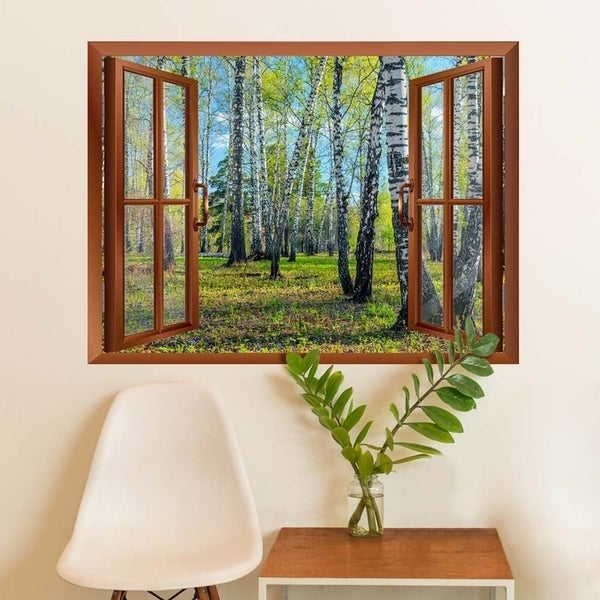 Shop Spring Forest Removable Wall Sticker Wall Mural 36x 48 Wall