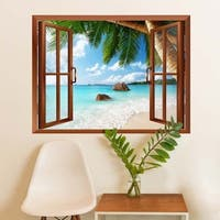 Anse Lazio Beach on Praslin island in Seychelles Removable Wall Vinyl