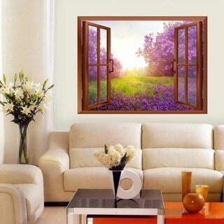 Lavender Field Removable Wall Sticker Wall Mural Wall Vinyl