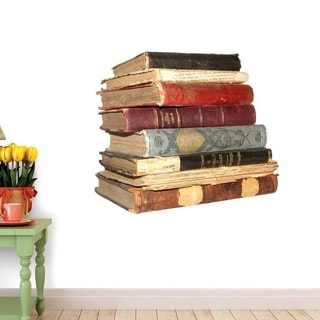 Old Books Peel and Stick Wall Decals  (18 in H x 12 in W) Wall Vinyl