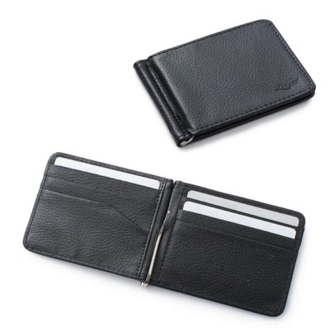 Zodaca Men's Slim Bifold Leather Wallet Purse Credit Card Holder Executive Business Card Case with Removable Money Clip