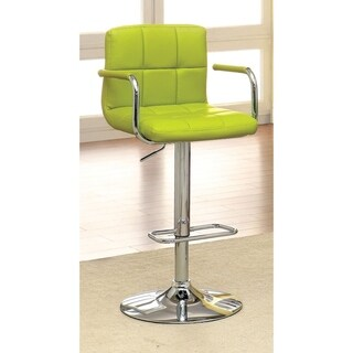 Corfu Contemporary Bar Stool With Arm In Yellow Pu