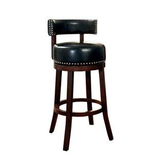 "Shirley Contemporary 24"" Barstool With pu Cushion Set of 2, Black - N/A"