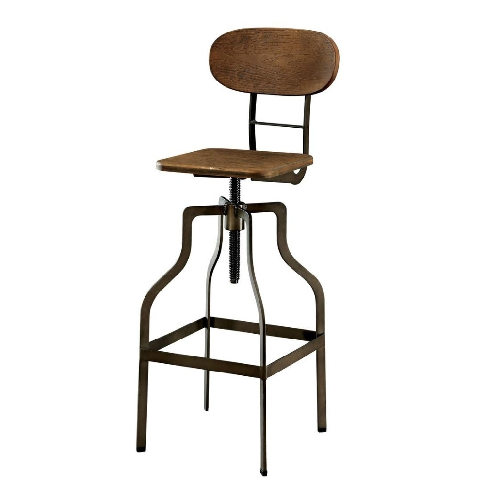 Bar Chairs The Cheapest Price Europe Retro Style Height Adjustable Bar Chair With Footrest Wood Backrest Swivel Bar Stool Counter Coffee Pub Chair Barstool 50% OFF