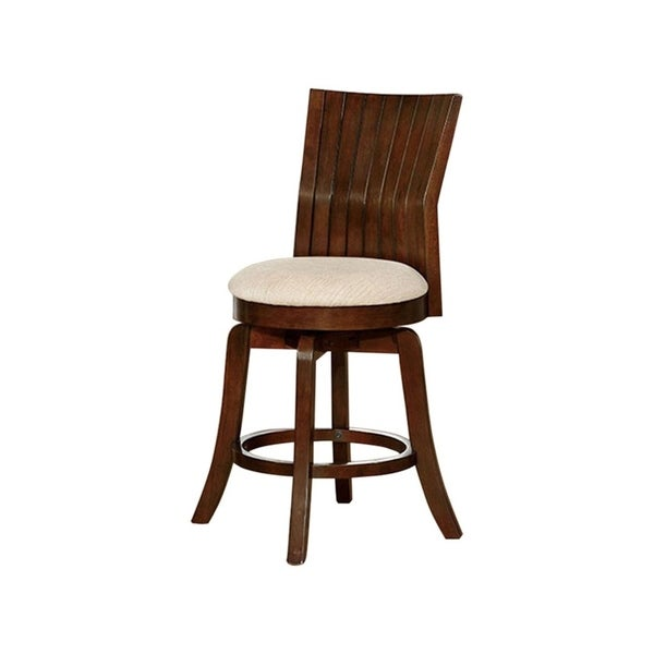 Pleasant Edgeland Transitional Bar Stool Brown Cherry Gmtry Best Dining Table And Chair Ideas Images Gmtryco