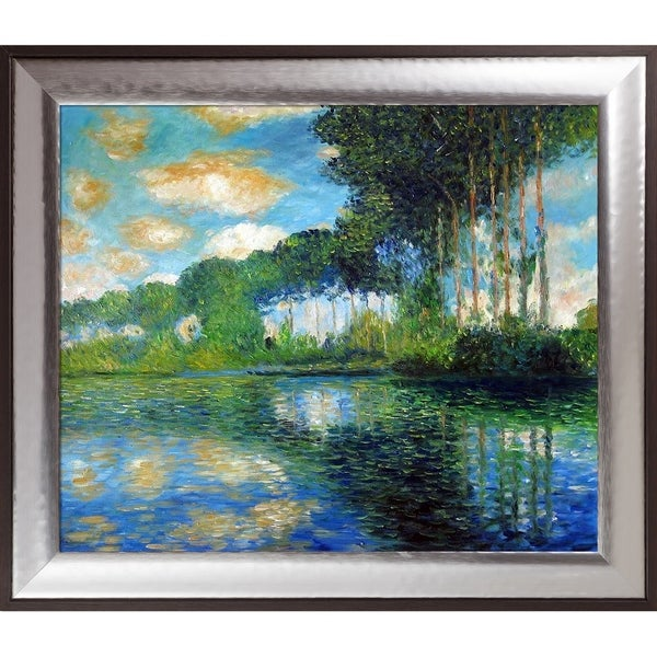 Claude Monet 'Poplars on the Banks of the Epte' Hand Painted Oil Reproduction