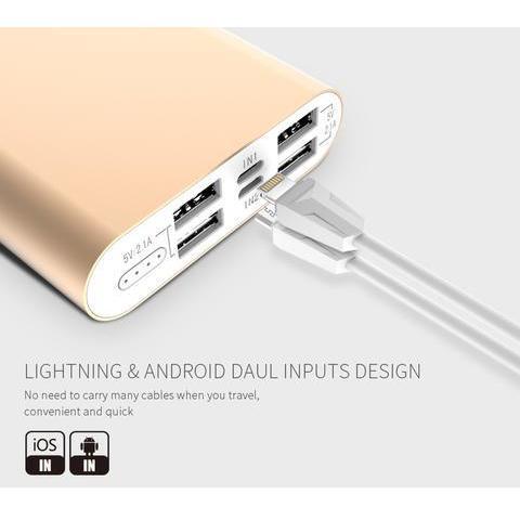 LAX Pro Series 16,800mAh Four USB Port Power Bank Rapid Charging External Backup Battery