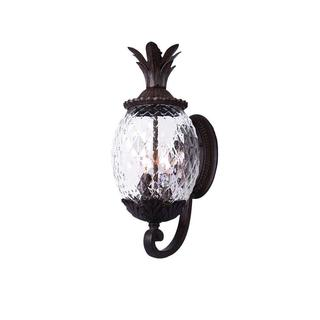 Acclaim Lanai Collection 3-Light Outdoor Black Coral Wall Lantern