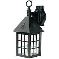 Acclaim Outer Banks Collection 1-Light Outdoor Matte Black Wall Mount