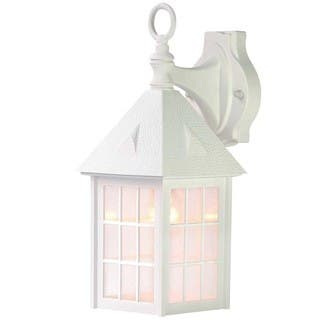 White outdoor lighting for less overstock acclaim outer banks collection 1 light outdoor white wall mount workwithnaturefo