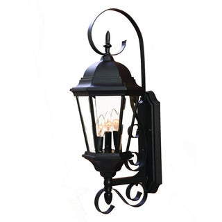 Acclaim New Orleans Collection 3-Light Outdoor Matte Black Wall Lantern